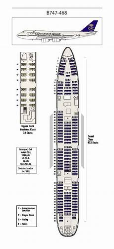 747 400 Seating Chart United Airlines Saudi Arabian Airlines Boeing 747 400 Aircraft Seating