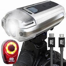 Go Cycle Bike Lights Blitzu Gator 390 Usb Rechargeable Led Bike Light Set