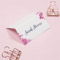 Pink Place Cards Pink And Navy Blossom Wedding Name Place Cards By Project