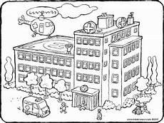 Ausmalbild Playmobil Krankenhaus Krankenhaus Kiddimalseite