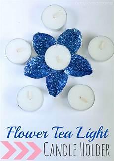 Tea Light Holder Crafts Diy Flower Tea Light Candle Holder Finding Zest