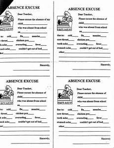 How To Write A Absent Note For School School Absence Excuse Letter Sample Homelightingcowarning