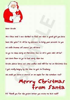Merry Christmas Letter Sample Santa Letters Father Christmas Letters Santa Letter