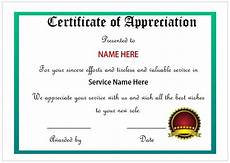 Appreciation Certificates For Employees Certificate Of Appreciation For Employees Printable