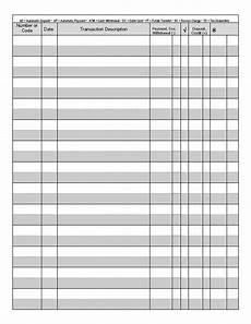 Paper Checkbook Register Printable Check Register Business Mentor