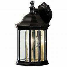 Kichler Outdoor Wall Light Kichler Modern Outdoor Wall Light With Clear Glass In