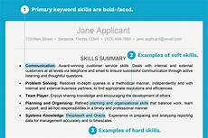 What Does Skills Mean On A Resumes Resume Example With A Key Skills Section
