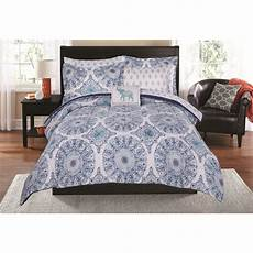 mainstays elephant medallion bed in a bag coordinating