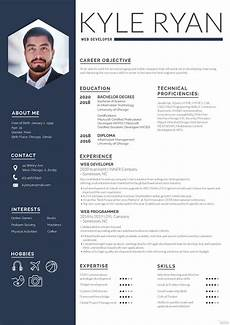Download A Free Cv Template Web Developer Resume Template In Adobe Photoshop