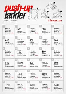 Push Up Chart For Beginners 30 Day Push Up Ladder Challenge By Darebee 30 Day Pushup