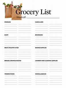 Grocery List Grocery List Makes Shopping Easier