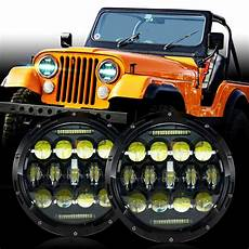 Jeep Cj5 Lights Led Headlight Headlamp Upgrade For Jeep Cj Cj5 Cj7 Ebay
