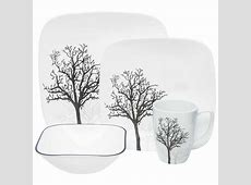 Corelle Square Timber Shadows Dinner Set   16 Piece   BIG W