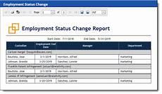 Employment Status Report Reports