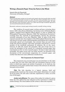Reserach Paper Pdf Writing A Research Paper From The Parts To The Whole