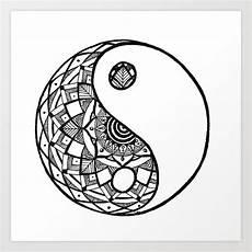 yin yang mandala print by rdesigns24 society6