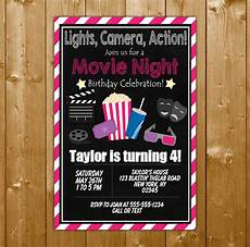 Second Birthday Party Invitations Movie Party Invitation Printable Digital Download Girl