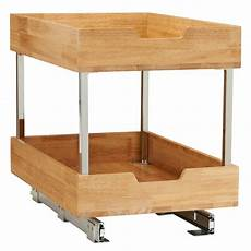 14 5 in 2 tier pull out wood cabinet organizer 24521 1
