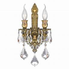 Crystal Sconce Lights Worldwide Lighting Versailles Collection 2 Light French