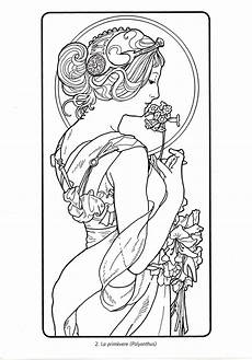alphonse mucha coloring pages at getcolorings free