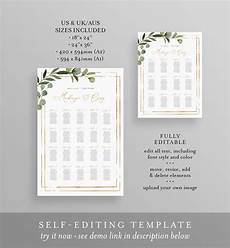 Downloadable Seating Chart Printable Seating Chart Template Wedding Seating Sign