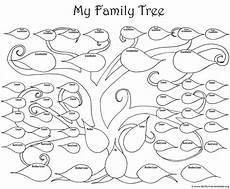 Small Family Tree Template A Printable Blank Family Tree To Make Your Kids Genealogy