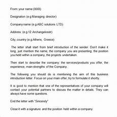 Formal Introduction Email Sample Business Introduction Letter 9 Free Documents In