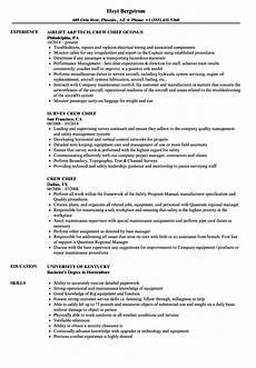 Crew Chief Resume Crew Chief Resume Samples Velvet Jobs