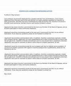 Character Letter Example Free 11 Sample Character Reference Letter Templates In