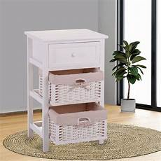 two toned 2 basket drawer contemporary nightstand with 1
