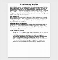 Detailed Itinerary Template Business Travel Itinerary Template 23 Word Excel Amp Pdf