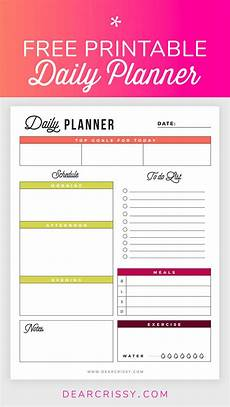 Daily Printable Planner Free Printable Daily Planner Goals To Do Exercise