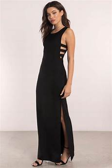 trendy black maxi dress black dress cut out dress