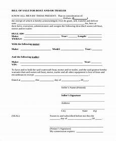 Bill Of Sale With Notary Free 9 Sample Trailer Bill Of Sale Forms In Pdf Ms Word