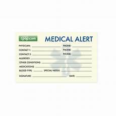 Medical Alert Cards Templates Cpap Com Cpap Com Sleep Apnea Medical Alert Wallet Card