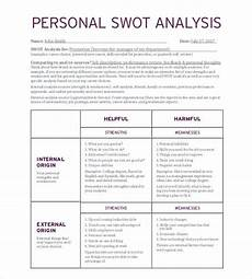 Personal Weakness Examples 26 Personal Swot Analysis Templates Pdf Doc Free
