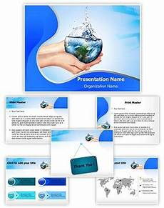 Save Powerpoint Template Professional Save Water Editable Powerpoint Template