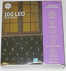 Ge Energy Smart Led Net Lights Ge Staybright Random Sparkle 100ct Led Net Style Lights