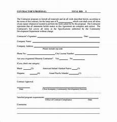 Bidding Proposal Template 22 Bid Proposal Template Free Word Excel Pdf