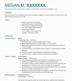 Nanny Resume Objective Sample Best Nanny Resume Example Livecareer