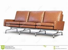 Sofa Cover 3 Seater Leather 3d Image by Brown Leather Sofa Three Seat Sofa 3d Render Stock