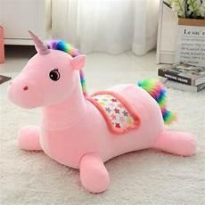 colorful unicorn soft stuffed baby seat plush animal