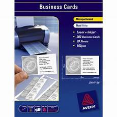 Avery Business Cards 10 Per Sheet Avery Business Cards White 20 Sheets 10 Per Page Officeworks