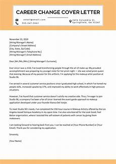 Cover Letters Career Change How To Write A Career Change Cover Letter Example