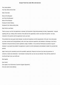 Thank You Letter After Job Fair Free 9 Functional Job Letters Recommendation Letter