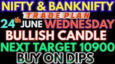 Nifty Option Premium Chart Bank Nifty Amp Nifty Tomorrow 24th June 2020 Daily Chart