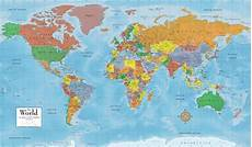 Continent World Map How Many Countries In The World Of 7 Continents And 5 Oceans