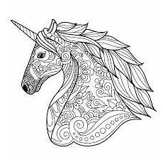 zentangle unicorn easy it dibujos