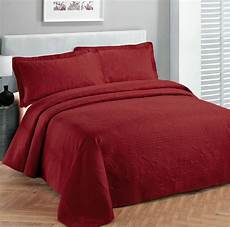 king size 3 pc solid embossed bedspread bed cover new