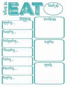 Free Printable Meal Planner Template Pantry Makeover Free Printable Weekly Meal Planner And